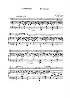 Faschingsschwank aus Wien, Op.26: Nr.4 Intermezzo, für Trompete und Klavier by Robert Schumann