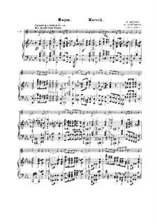 Vier Märsche, Op.76: Nr.4 Marsch, für Trompete und Klavier by Robert Schumann