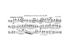 Morceaux de concours, Op.130: No.2 for Double Bass and Piano – Double Bass Part by Victor Frédéric Verrimst