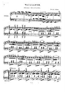 Vaillance. Polka Militaire: Für Klavier by Joseph Ascher