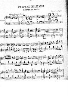 Fanfare militaire, Op.40: Für Klavier by Joseph Ascher