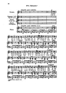 Habanera: Für Stimmen und Klavier by Georges Bizet