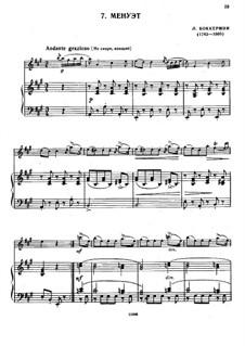Streichquintett Nr.5 in E-Dur, G.275 Op.107: Menuett, für Violine und Klavier by Luigi Boccherini
