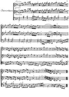 Ouvertüre für Violine und Cembalo: Ouvertüre für Violine und Cembalo by Jacques Duphly