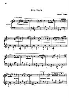 Chaconne in a-Moll, Op.62: Für Klavier by Auguste Durand
