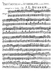 The Countess of Sutherland: Für Klavier by Jan Ladislav Dussek