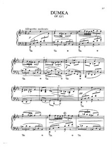 Two Pieces, Op.12: No.1 Dumka, B.136 by Antonín Dvořák