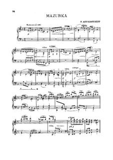 Mazurka in d-Moll: Mazurka in d-Moll by Nikolaï Vasilyevich Artsybushev