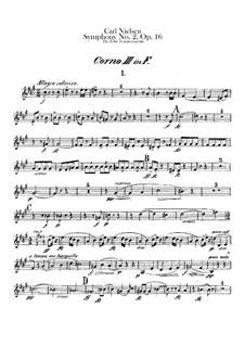 Sinfonie Nr.2 'Die vier Temperamente', FS 29 Op.16: Waldhornstimmen III-IV by Carl Nielsen