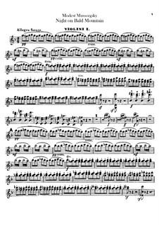 Eine Nacht auf dem kahlen Berge: Violinstimme I by Modest Mussorgski