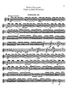 Eine Nacht auf dem kahlen Berge: Violinstimme II by Modest Mussorgski