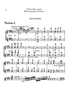Fragmente: Introduktion – Violinstimmen by Modest Mussorgski