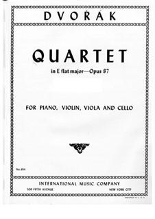 Klavierquartett Nr.2 in Es-Dur, B.162 Op.87: Teil I by Antonín Dvořák