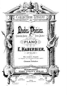 Poetische Studien, Op.53: Für Klavier by Ernst Haberbier