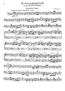 Der Prophet: Krönungsmarsch – Cello- und Kontrabassstimme by Giacomo Meyerbeer