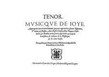 Musicque de Joye: Tenorstimme by Jacques Moderne