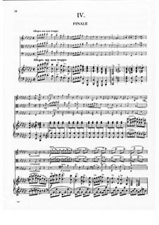Klavierquartett Nr.2 in Es-Dur, B.162 Op.87: Teil IV by Antonín Dvořák