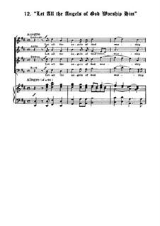 Nr.35 Let All the Angels Of God: Klavierauszug mit Singstimmen by Georg Friedrich Händel