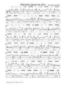 Patentia ognun me dice, f.54r: Patentia ognun me dice by Joan Ambrosio Dalza