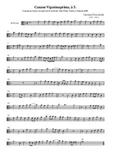 Canzon Vigesimaprima: Alto by Girolamo Frescobaldi
