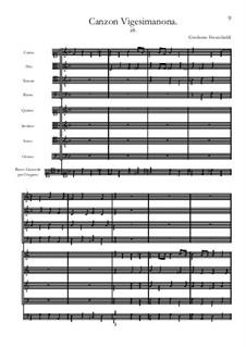 Canzon Vigesimanona: Partitur by Girolamo Frescobaldi