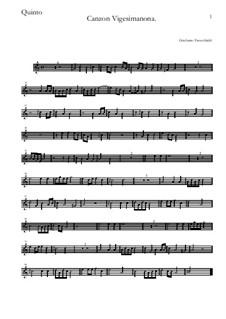 Canzon Vigesimanona: Quinto by Girolamo Frescobaldi