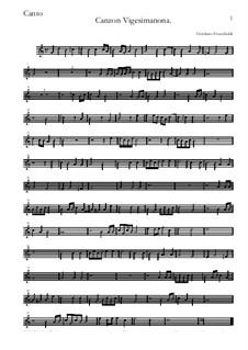 Canzon Vigesimanona: Canto by Girolamo Frescobaldi