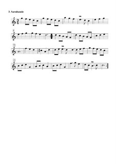 Suite Nr.3 in C-Dur: Nr.3 Sarabande by Daniel Demoivre