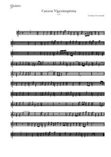 Canzon Vigesimaprima: Quinto by Girolamo Frescobaldi