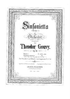 Sinfonietta in D-Dur, Op.80: Teile I-II, für Klavier, vierhändig by Louis Théodore Gouvy