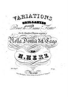 Variationen über Themen aus 'La donna del lago' von Rossini, Op.17: Variationen über Themen aus 'La donna del lago' von Rossini by Henri Herz