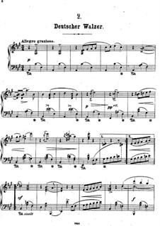 Aus meinem Skizzenbuch, Op.29: Nr.2 Deutscher Walzer by Theodor Kirchner