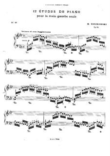 Zwölf Etüden für die linke Hand, Op.92: Etüden Nr.10-12 by Moritz Moszkowski