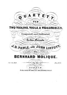 Streichquartett in B-Dur, Op.42: Streichquartett in B-Dur by Bernhard Molique
