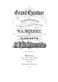 Konzert für Klarinett und Orchester in A-Dur, K.622: Bearbeitung für Streichquintett by Wolfgang Amadeus Mozart