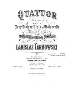 Streichquartet in D-Dur: Streichquartet in D-Dur by Władysław Tarnowski