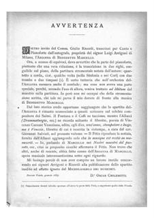 Arianna: Introduktion und Akt I, Szenen 1-5 – Klavierauszug mit Singstimmen by Benedetto Marcello