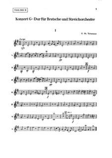Konzert für Bratsche, Streicher und Basso Continuo in G-Dur, TWV 51:G9: Violinstimme II by Georg Philipp Telemann