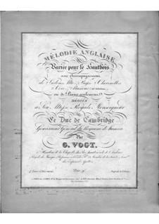 Mélodie anglaise, für Oboe und Klavier: Mélodie anglaise, für Oboe und Klavier by Gustave Vogt