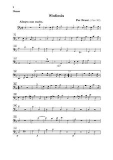 Sinfonia in d-Moll für Streicher und Basso Continuo: Basso Continuo Stimme by Per Brant
