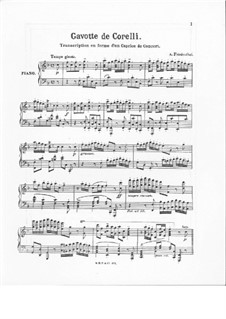 Gavotte de Corelli: Gavotte de Corelli by Albert Friedenthal