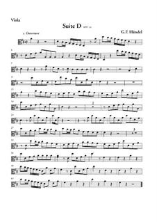 Suite für Orchester in D-Dur, HWV 341: Violastimme by Georg Friedrich Händel