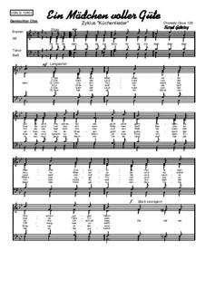 Ein Mädchen voller Güte: Für gemischten Chor, Op.128 by folklore
