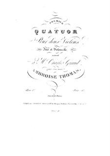 Streichquartett in e-Moll, Op.1: Streichquartett in e-Moll by Ambroise Thomas