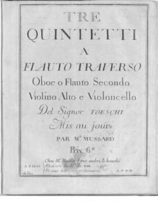 Drei Quintette für Streicher und Bläser: Drei Quintette für Streicher und Bläser by Carl Joseph Toeschi