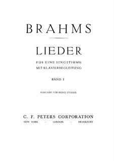 Ausgewählte Lieder I: Ausgewählte Lieder I by Johannes Brahms