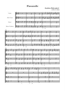 Passacaglia für Streicher und Basso Continuo: Passacaglia für Streicher und Basso Continuo by Andrea Falconieri