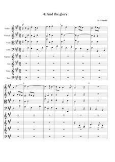 Nr.4 Denn die Herrlichkeit Gottes des Herrn: Vollpartitur by Georg Friedrich Händel
