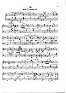 Neun Klavierstücke 'Lose Blätter', Op.7: Nr.9 Auf Wiedersehn by Hermann Götz
