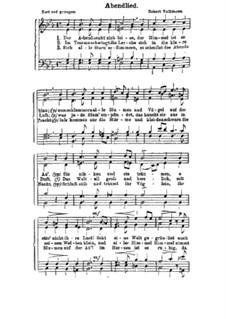Abendlied: Abendlied by Robert Volkmann